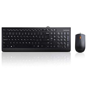 Lenovo 300 Wired Keyboard and Mouse Combo (Black)