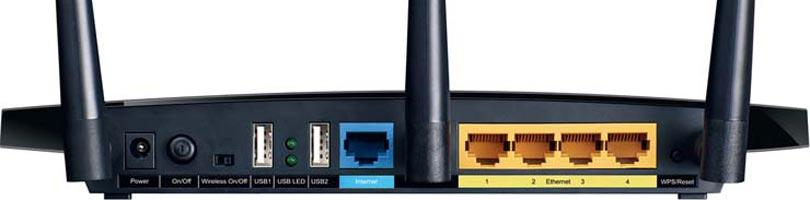 Back of the router